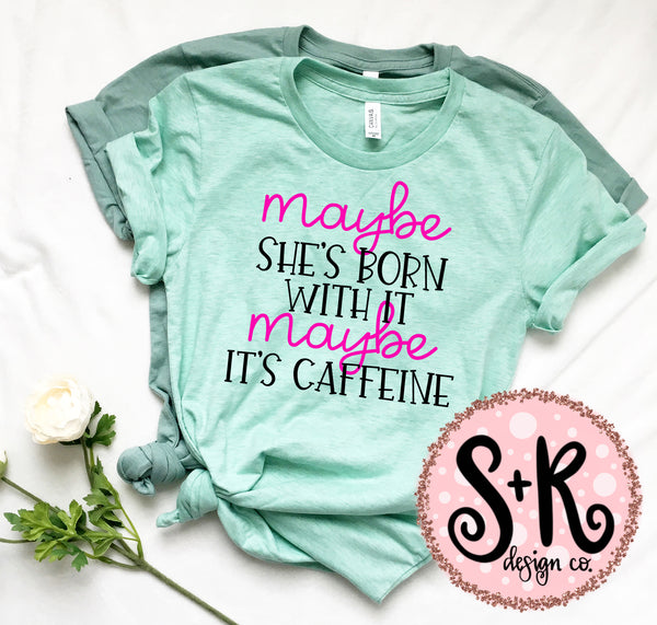 Maybe Caffeine SVG DXF PNG (2019)