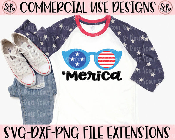 Merica Glasses SVG DXF PNG (2020)