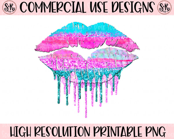 Mermaid Drip Lips Printable Design (2020)