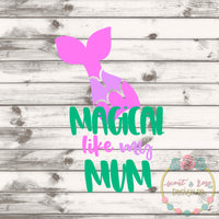 Mermaid Like Mum SVG DXF PNG