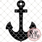Mermaid Scale Anchor SVG DXF PNG (2019)