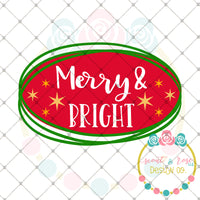 Merry & Bright SVG DXF PNG