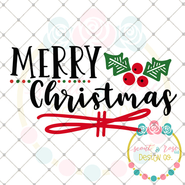 Merry Christmas SVG DXF PNG