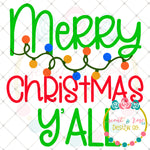 Merry Christmas Lights SVG DXF PNG