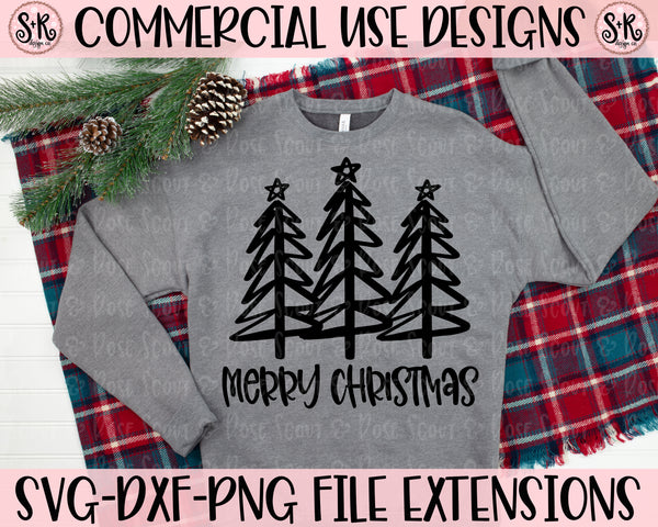 Merry Christmas Trees SVG DXF PNG (2020)