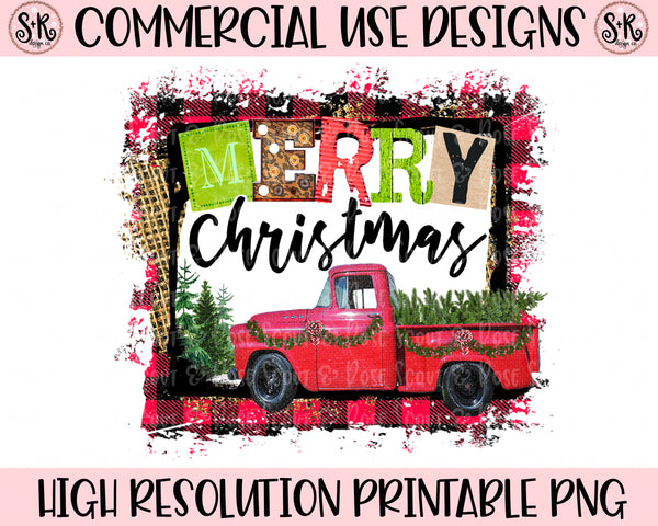 Merry Christmas Vintage Truck Printable Design (2019)
