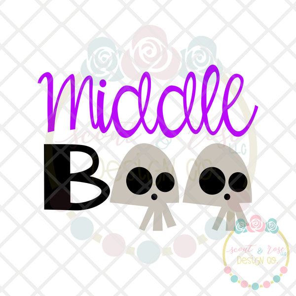 Middle Boo SVG DXF PNG