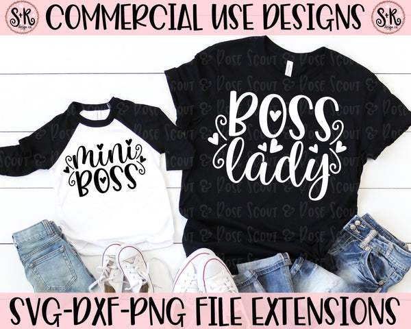 Boss Lady/ Mini Boss SVG DXF PNG (2019)