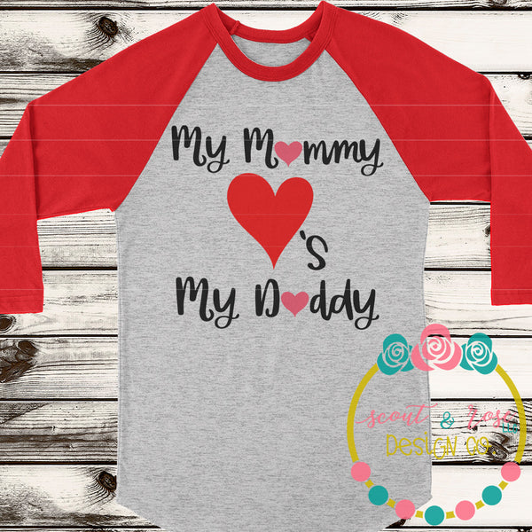 Mommy loves Daddy SVG DXF PNG