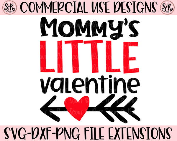 Mommy's Little Valentine SVG DXF PNG (2019)