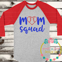 Baseball Mom Squad SVG DXF PNG