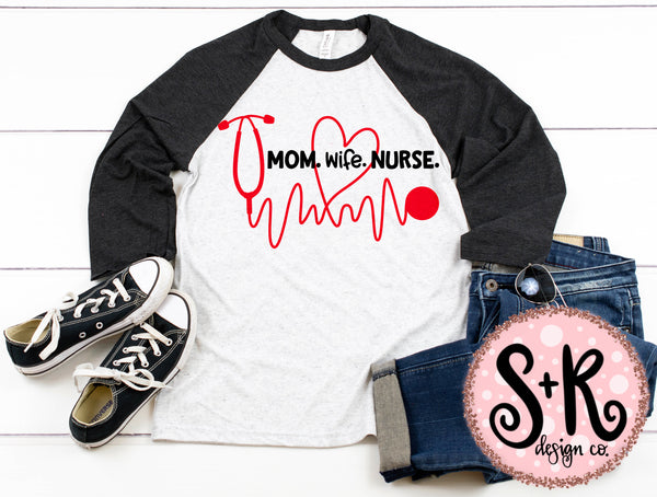 Mom Wife Nurse SVG DXF PNG (2019)