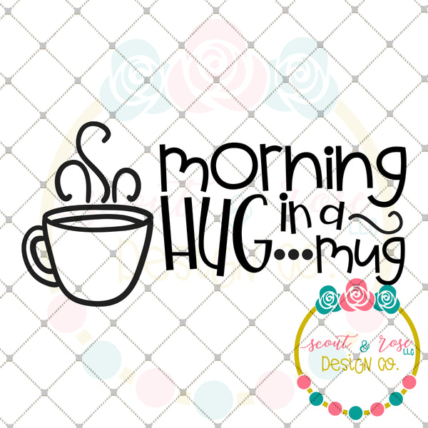 Hug in a Mug SVG DXF PNG