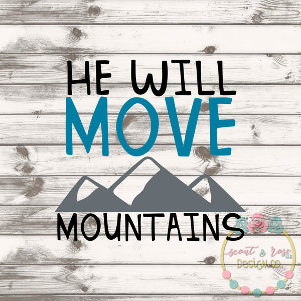 Move Mountains SVG DXF PNG