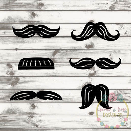 Design Your Own Mustache Shirt Set SVG DXF PNG