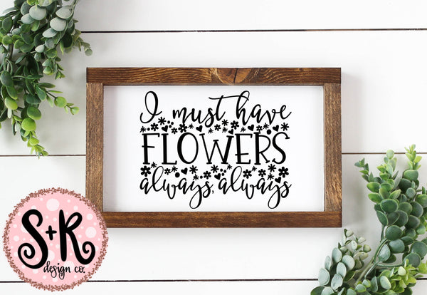 Must Have Flowers SVG DXF PNG (2019)