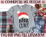 Nana Claus SVG DXF PNG (2019)