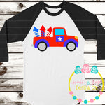 4th of July Vintage Truck SVG DXF PNG