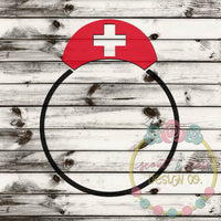 Nurse Hat Monogram Frame SVG DXF PNG