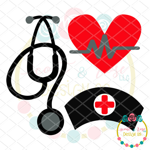 Design Your Own Nurse Set SVG DXF PNG