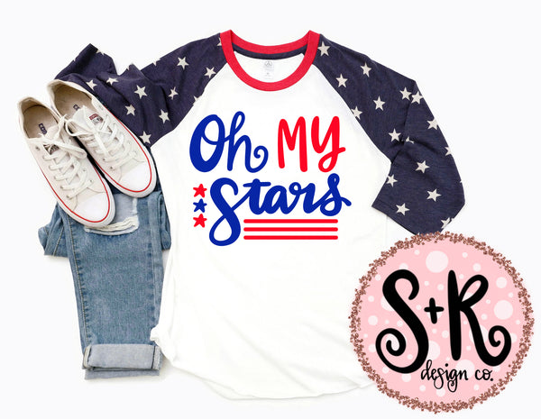 Oh My Stars Patriotic SVG DXF PNG (2019)