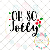 Oh So Jolly SVG DXF PNG