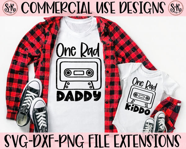 Daddy and Me Rad Daddy/Rad Kiddo SVG DXF PNG (2020)