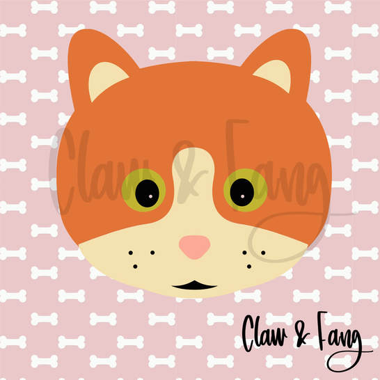 Claw & Fang Orange Cat Cut File