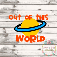 Out Of This World SVG DXF PNG