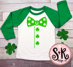 St. Patricks Day Bow Tie Shirt SVG DXF PNG
