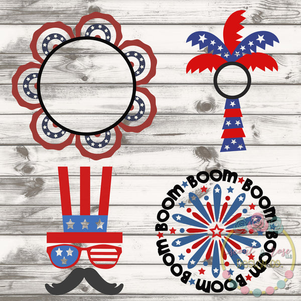 4th of July Cut File Bundle 1 SVG DXF PNG