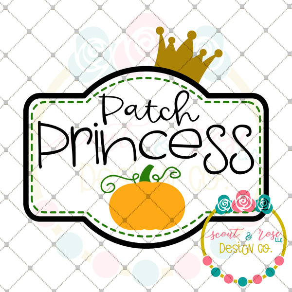 Patch Princess SVG DXF PNG