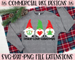 Peace Love Christmas Gnomes SVG DXF PNG (2020)