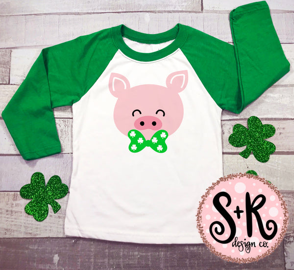 Pig w/ Bowtie St. Paddys SVG DXF PNG (2019)