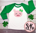 Cute Pig w/ Bow St. Paddys SVG DXF PNG (2019)