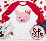 Cute Pig w/ Bow V-day SVG DXF PNG (2019)