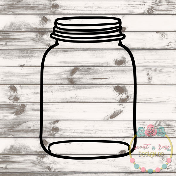 Plain Mason Jar Rolled Flower Set SVG DXF PNG