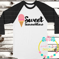 Sweet Summertime Ice Cream SVG DXF PNG