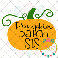Pumpkin Patch Sis SVG DXF PNG