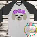 Poodle Dog Rose Crown SVG DXF PNG