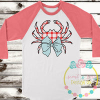 Preppy Crab Cut File SVG DXF PNG