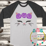 Kitty Rose Crown Me SVG DXF PNG