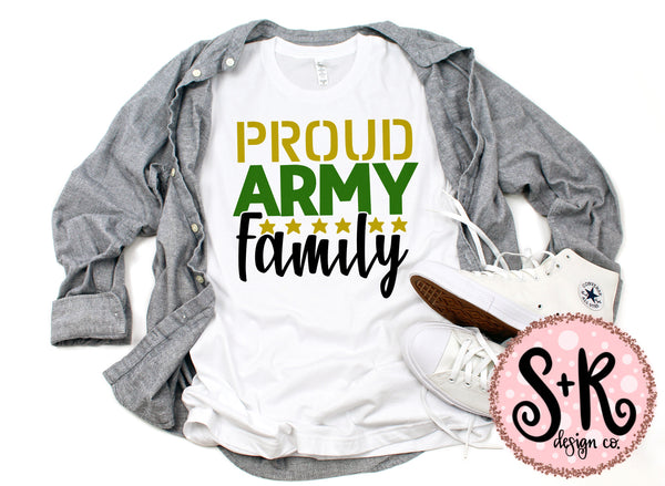 Proud Army Family SVG DXF PNG (2019)