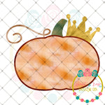 Pumpkin with Crown Sublimation Design