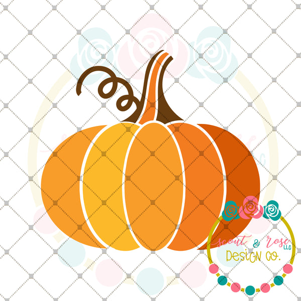 Fall Pumpkin SVG DXF PNG