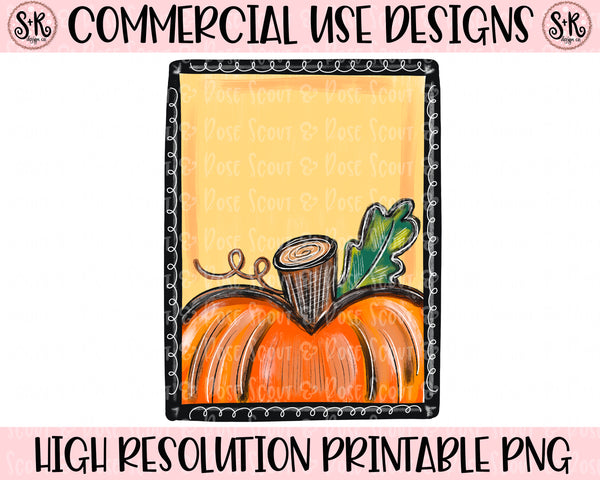 Pumpkin Blank Frame Printable Design (2020)