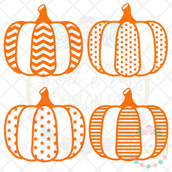 Pumpkin Set SVG DXF PNG