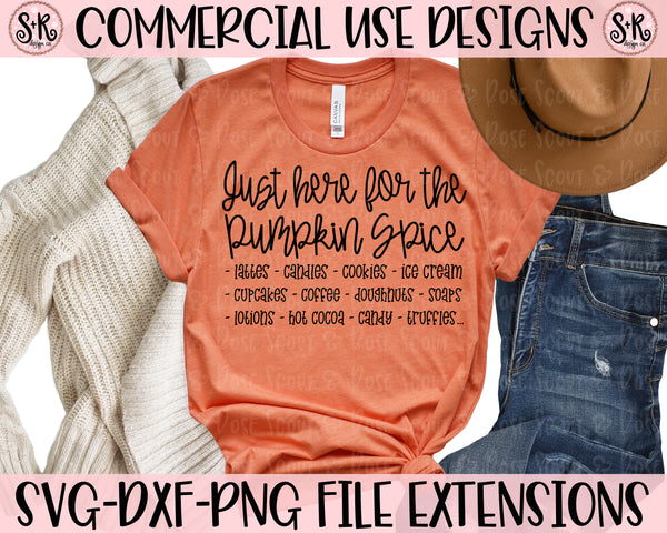 Pumpkin Spice List SVG DXF PNG (2019)