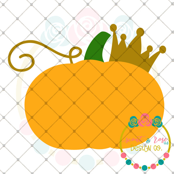 Pumpkin with Crown SVG DXF PNG