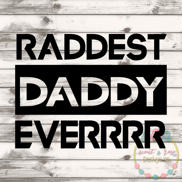 Rad Dad SVG DXF PNG